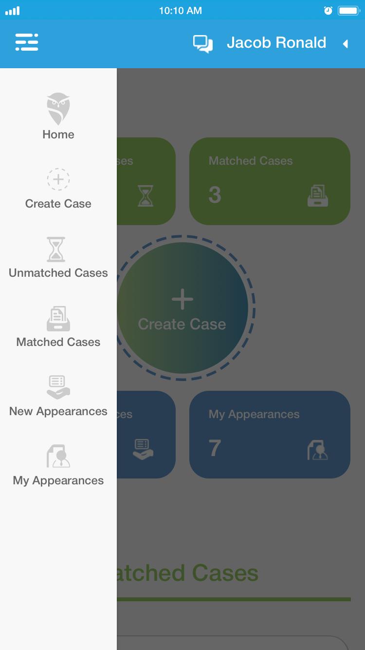 left side menu Iphone 6