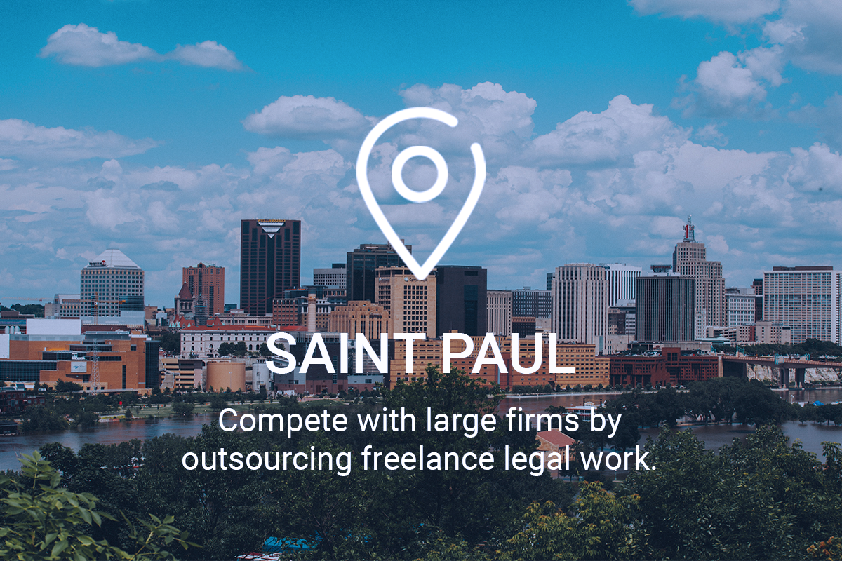 Compete with Large Firms by Outsourcing Freelance Legal Work in Saint Paul