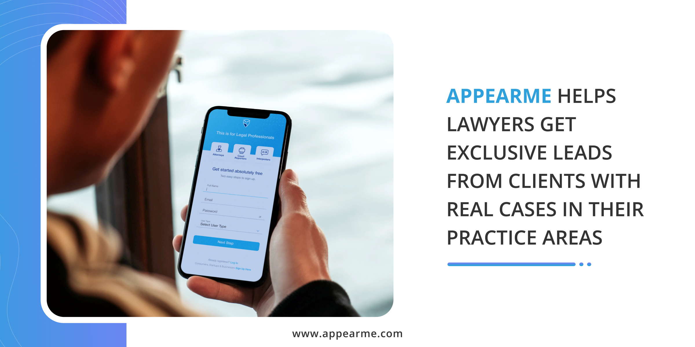 AppearMe Helps Lawyers Get Exclusive Leads from Clients with Real Cases in Their Practice Areas